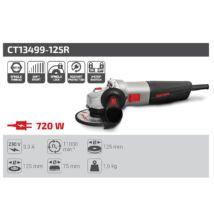 Crown CT13499-125R Sarokcsiszoló 720W 125 mm