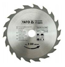 Yato YT-6055 fűrésztárcsa fához 160/20/18