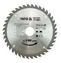 Yato YT-6061 fűrésztárcsa fához 184/30/40