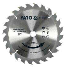 Yato YT-60634 fűrésztárcsa fához 190/20/24 wolframkarbidos