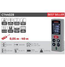 Crown CT44028 lézeres távolságmérő 40m