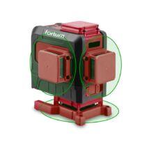 """Fortum automatikus lézeres vízszintező, ZÖLD, 3D (3×360°) pontosság: 0,2mm/1m, 1/4"""" és 5/8"""" menet"""