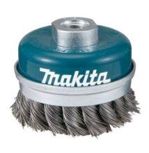 Makita D-29290 fazék drótkefe sodrott, erősített 100mm M14