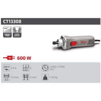Crown CT13308 egyenes csiszoló 600W 12000-27000 fordulat