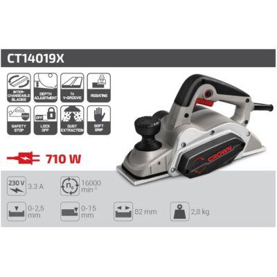 Crown CT14019X gyalu 710 W 82 mm