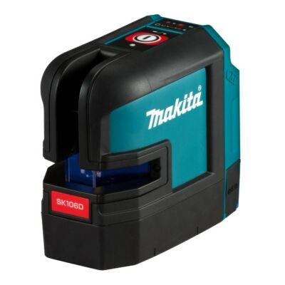 Makita SK106DZ kereszt és pontlézer 10,8V CXT Li-Ion piros
