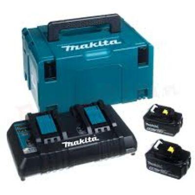 Makita 197629-2 akku szett 2x5,0Ah+ DC18RD duplatöltő + MAKPAC