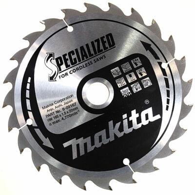 Makita D-51079 Specialized körfűrésztárcsa 165x20mm Z20